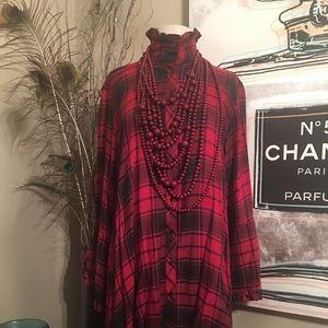 Plaid HiLo Dress